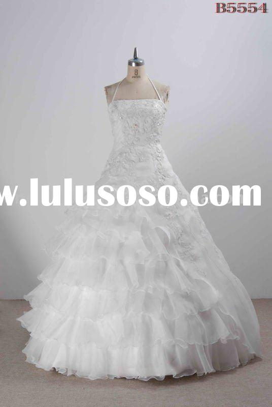 B5554 embriodered ball gown wedding dresses