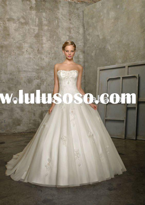 Ball Gown Strapless Tulle 2513 Style Wedding Dresses for Bride