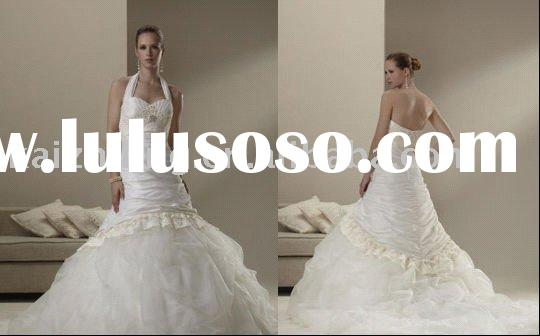 Best sell lace bead dropped ball wedding dress bride gown bride dress