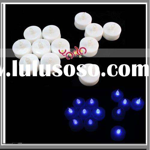 Blue Led Light Wedding Party Flameless Candle