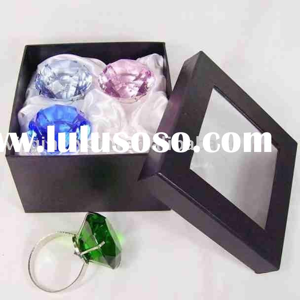 Clear Big Crystal Diamond Ring Napkin Holder Wedding Favors