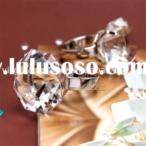 Clear Optical Crystal Diamond Napkin Ring Paperweight
