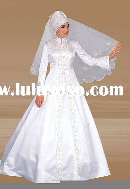 Elegant Muslim Wedding Gown