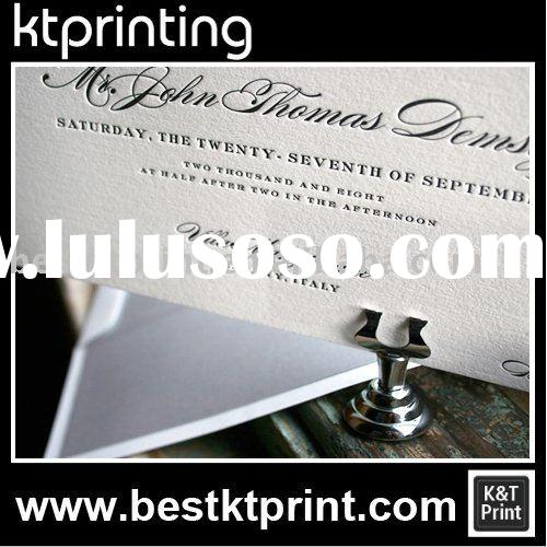 Embossing wedding invitation cards greeting card Printing