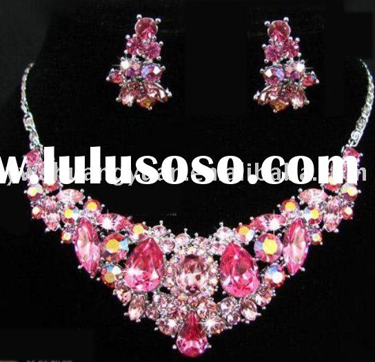 Fashion Rhinestone Swaroski CZ Bridal/Wedding/Party Jewelry Necklace set