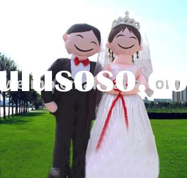Wedding decoration inflatable bride and groom can be used outdoor for the