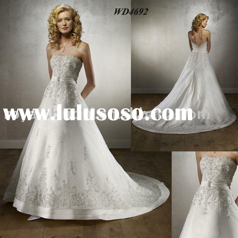 Latest Embroidered Designs Wedding Gown