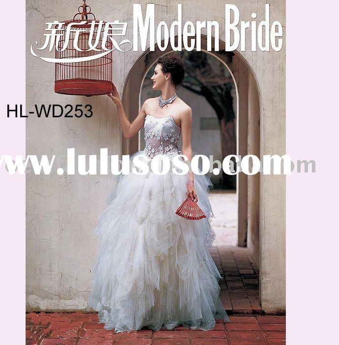Modern Bride Wedding Gown HL-WD253