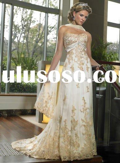 Muslim Wedding Gown Off Shoulder A-line Appliqued