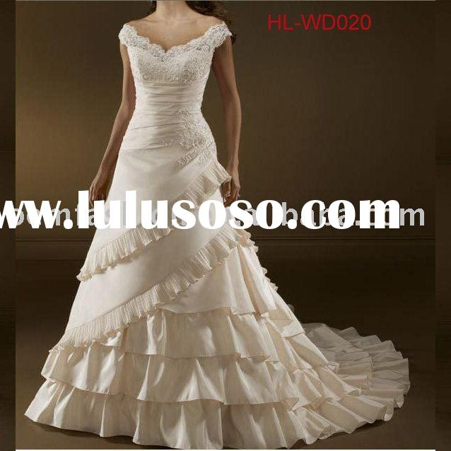 New Designs Wedding Gowns Bridal Dresses Collection HL-WD020