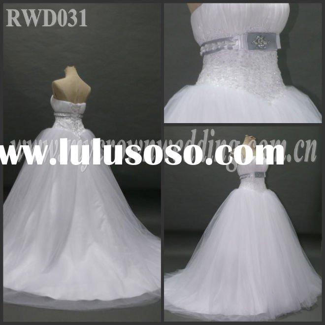 New! Fashion handmade Ball Gown Real photo Wedding Dress