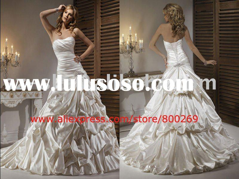 New style wedding dress ball gown satin  SL-4368