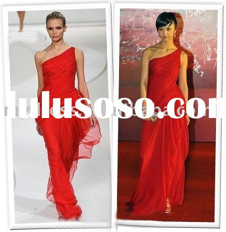 One Shoulder Formal Gown Celebrity Dresses JH024