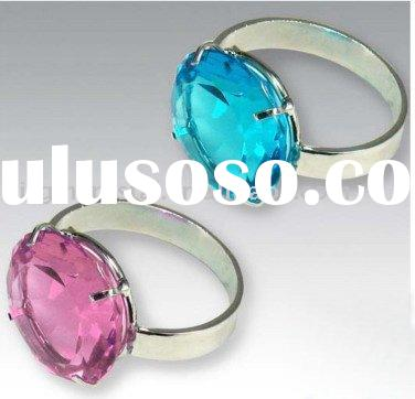 Pink & Blue Optical Crystal Diamond Napkin Ring