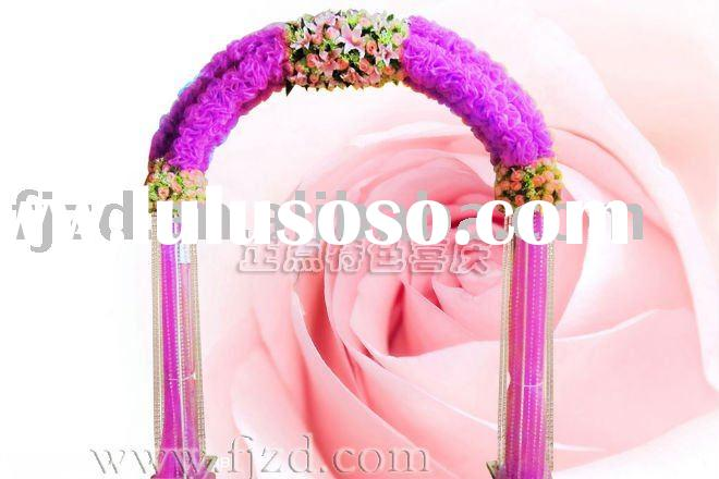 Purple Crystal Wedding Arch 1 Ideal for wedding occasion 2 Can be