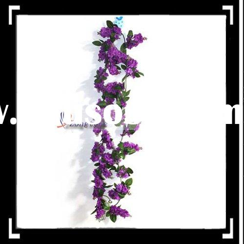 Purple Silk Wisteria Garland Wedding Flowers Wreath