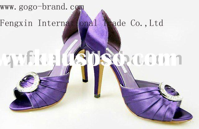 Purple bridal shoes , ladies wedding high heel shoes ( 8.5CM )