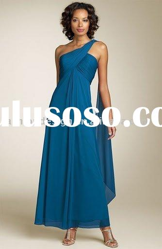 RM-027   2010 new one shoulder chiffon mother of bride dress