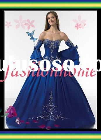 Royal Blue Vintage Wedding dress  Al038
