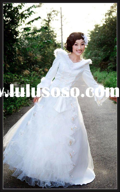Royal wedding dress long sleeves