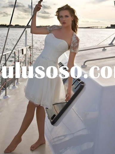 2011 summer outdoor informal short wedding dresses MFW013