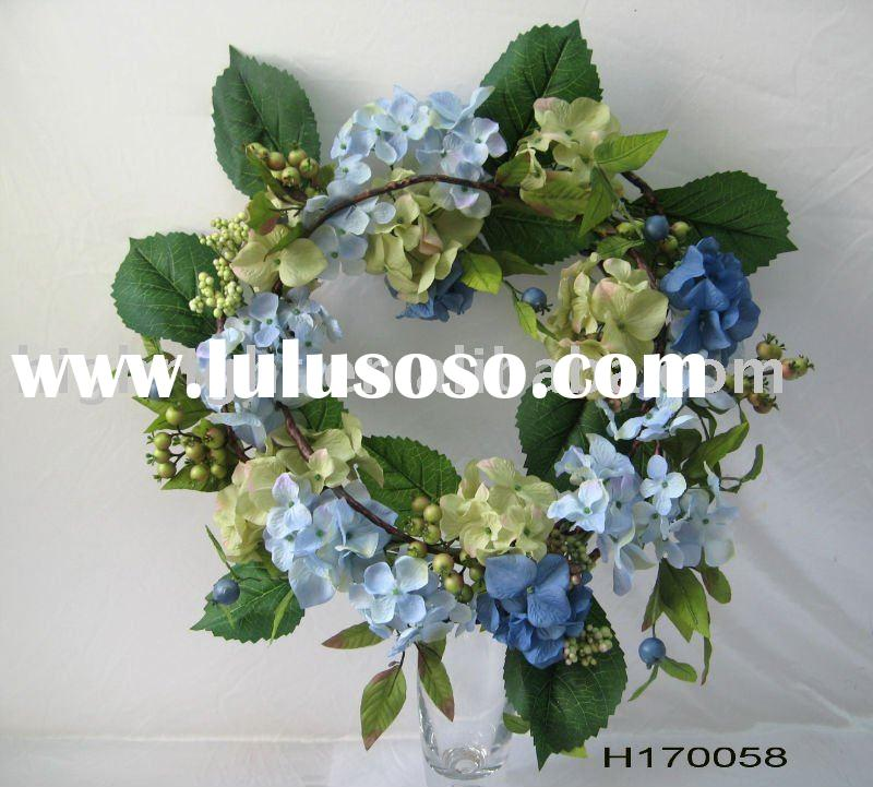 Spring artificial flower wreath