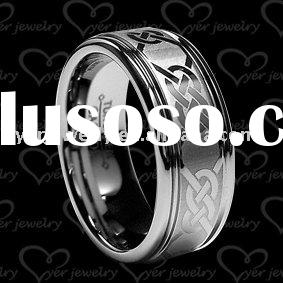 Unique Bridal Jewelry on Unique Tungsten Wedding Ring Laser Engrave Jewelry