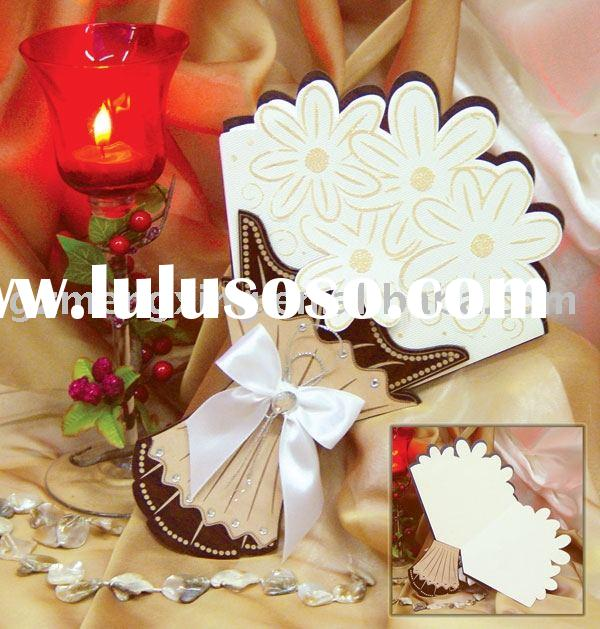 1 A wedding card made of wood and cardboard in the form