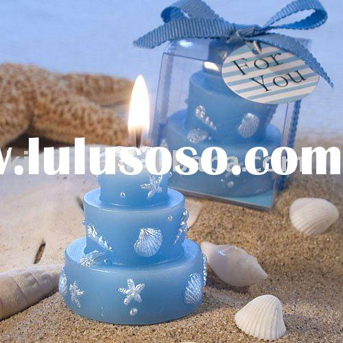 Wedding favors-Beach Themed Wedding Cake Candle Favors