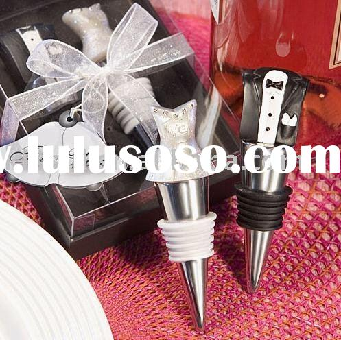 Wedding favors and giftsBride and Groom Wine Bottle Stopper Set