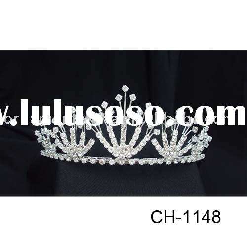 bridal jewelry/wedding accessory/triple tiara/diamond tiara/crystal tiara/rhinestones tiara
