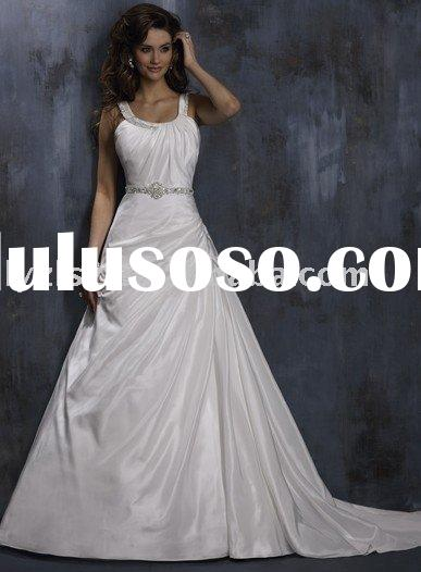 cheap bridal wedding gown Fabric Taiwan made high quality bridal satin or