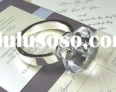 CRYSTAL WEDDING DIAMOND RING FAVOR 1 Material K9 opti