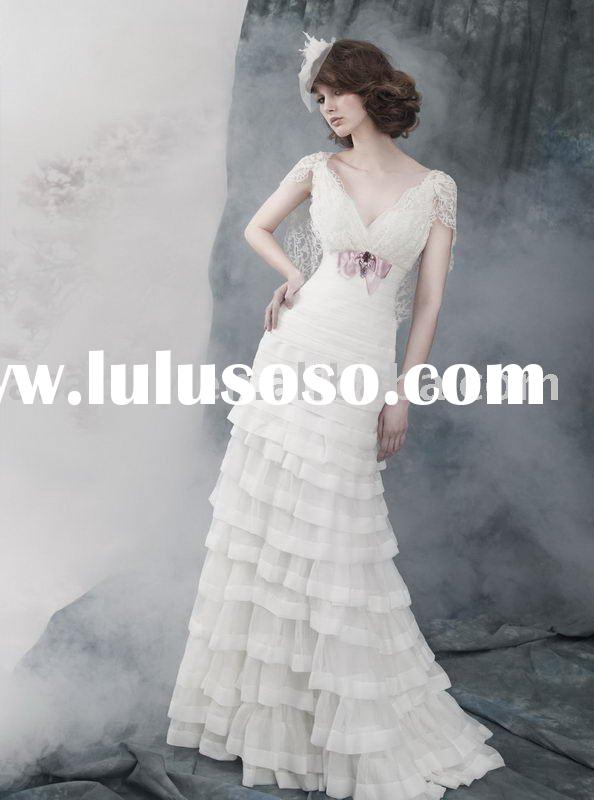 designer bridal gowns 2011 Newest style Sheath Wedding dress--LB3406