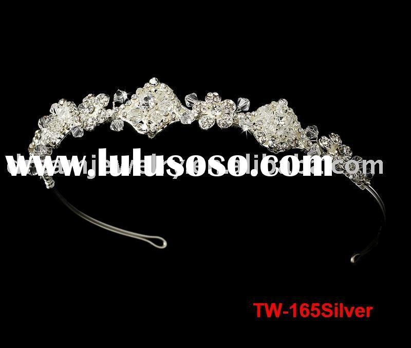 Description Item name fashion wedding crown Item NoTW165silver