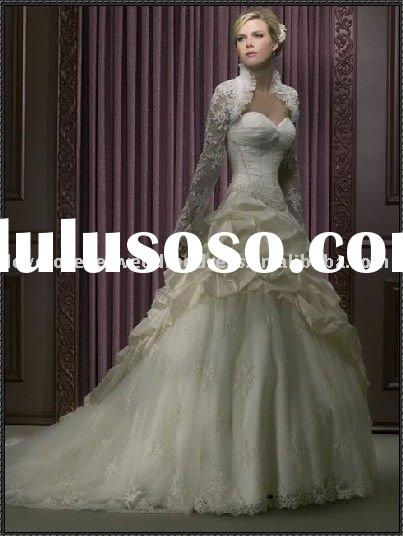 hot sale new fashion ball gown wedding dress long train