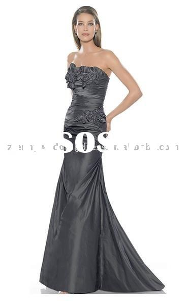 hot sale strapless taffeta bridal gown ball gown wedding dresses evening dress