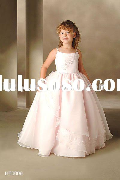 latest design beautiful flower girl wedding dress freeshipping gift a veil gyxh006