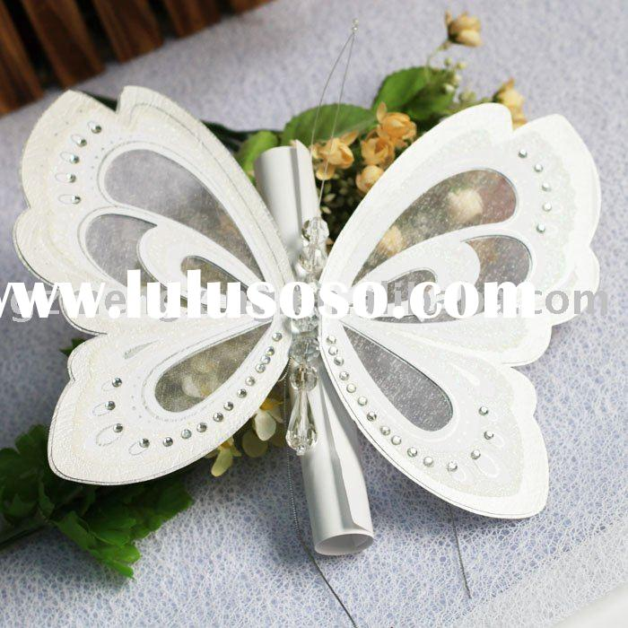 unique wedding invitation cards with butterfly shape-- T192