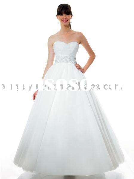 2010 vintage China red ball gown style wedding dresses ALW089
