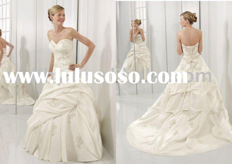 wholesale 2011 new style high-quality unique design bridal wedding gown TY2211