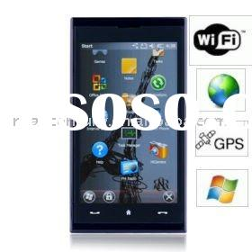 MAX 4G Windows Mobile 6.5 Quad Band WIFI Bluetooth FM 3.8 Inch Touch Screen GPS Mobile Phone