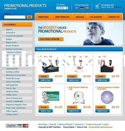 Promotional products E-commerce Web Design Service (Rent or Buyout)