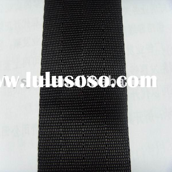black colour flat shape woven nylon webbing