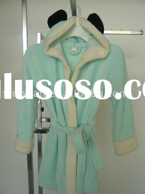 children's hooded fleece bathrobe/robe/gown