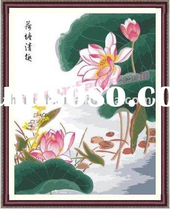 flower oil painting pictures --Paint by Number Kits