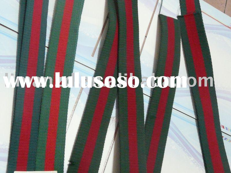 stripe cotton webbing, woven tape, webbing strap
