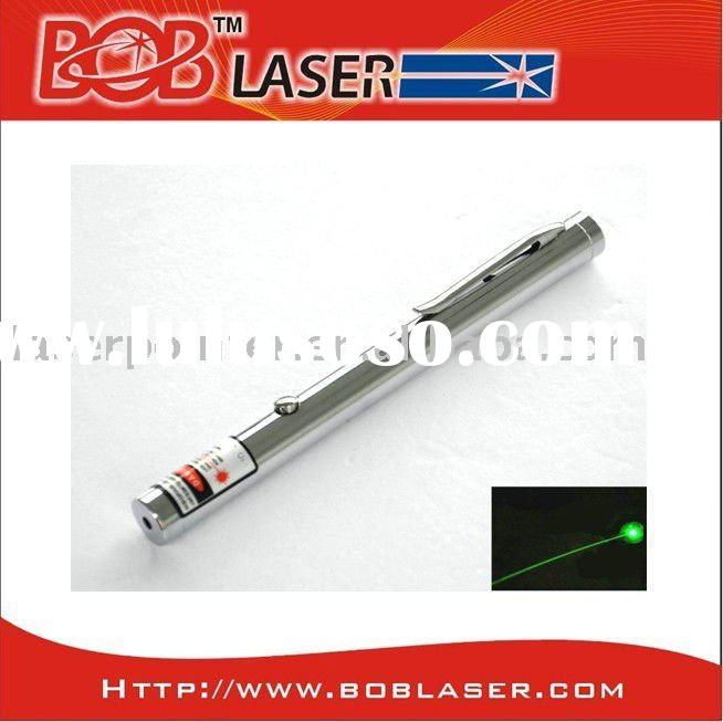 Chrome Sliver Body Green Laser Pointers 80mw