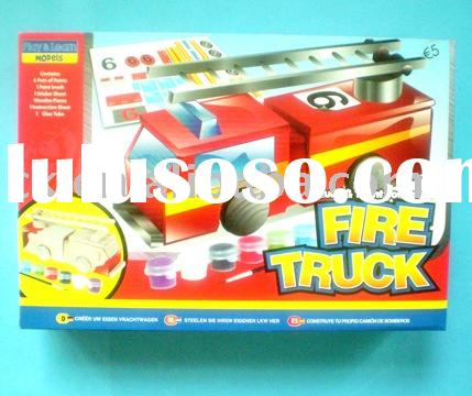 DIY Wooden Craft Fire Truck,Wooden Toy
