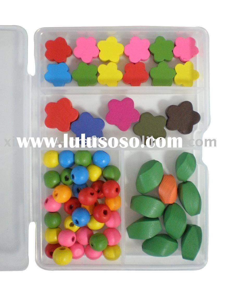 DIY wood beads kit for crafts supplies